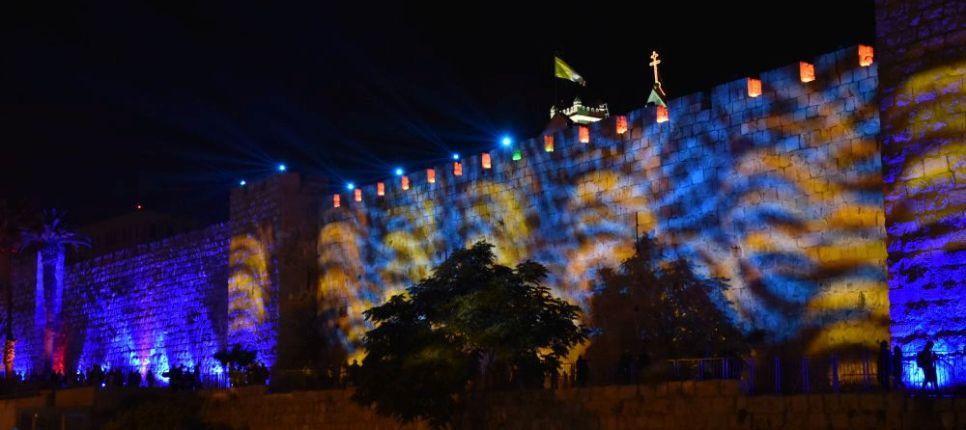 Festival luz en Jerusalén