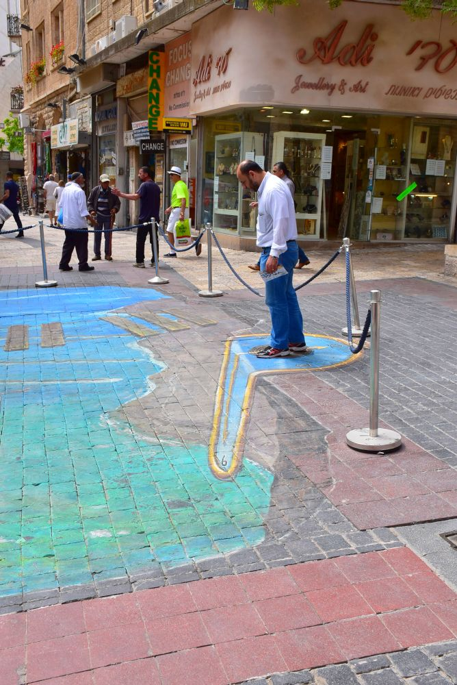 Pinturas tridimensionales en Jerusalén