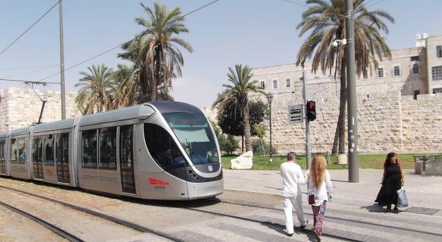 tren ligero de Jerusalén